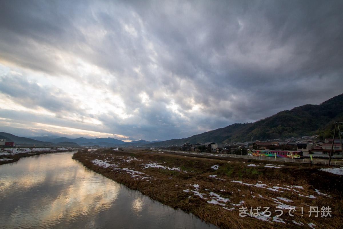 冬の日暮れ雲
