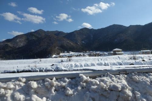 雪景色 車内から