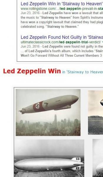 tokLed Zeppelin Win in Stairway to Heaven Trial