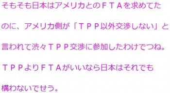 tenTPPよりFTAがいいなら日本はそれでも構わない