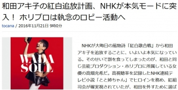 news和田アキ子の紅白追放計画、NHKが本気モードに突入! ホリプロは執念のロビー活動へ