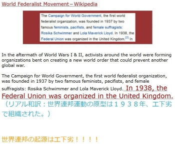wikiWorld Federalist Movement
