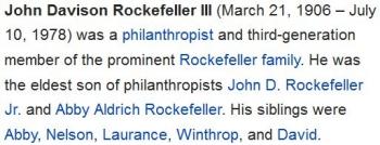 wikiJohn D Rockefeller III