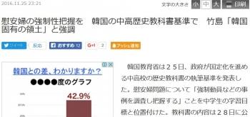 news慰安婦の強制性把握を 韓国の中高歴史教科書基準で 竹島「韓国固有の領土」と強調