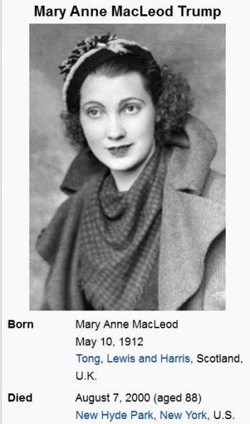wikiMary Anne MacLeod Trump