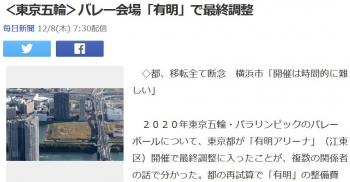 news<東京五輪>バレー会場「有明」で最終調整