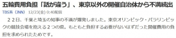 news五輪費用負担「話が違う」、東京以外の開催自治体から不満続出