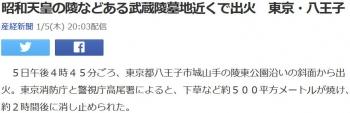 news昭和天皇の陵などある武蔵陵墓地近くで出火 東京・八王子