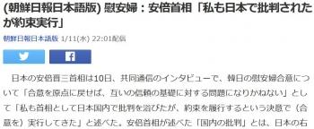 news(朝鮮日報日本語版) 慰安婦:安倍首相「私も日本で批判されたが約束実行」