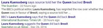 tokQueen Brexit Laura Kuenssberg