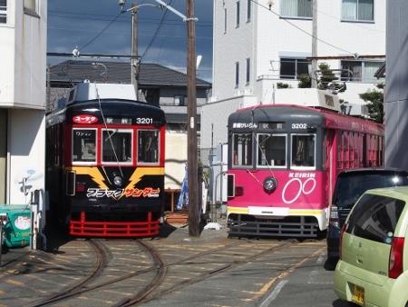 豊橋鉄道モ3200形 ブラックサンダー&競輪