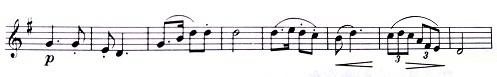 譜例《交響曲第9番》第1楽章第2主題 - コピー