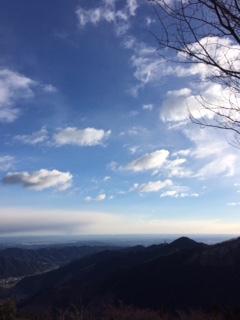 御岳山の上から
