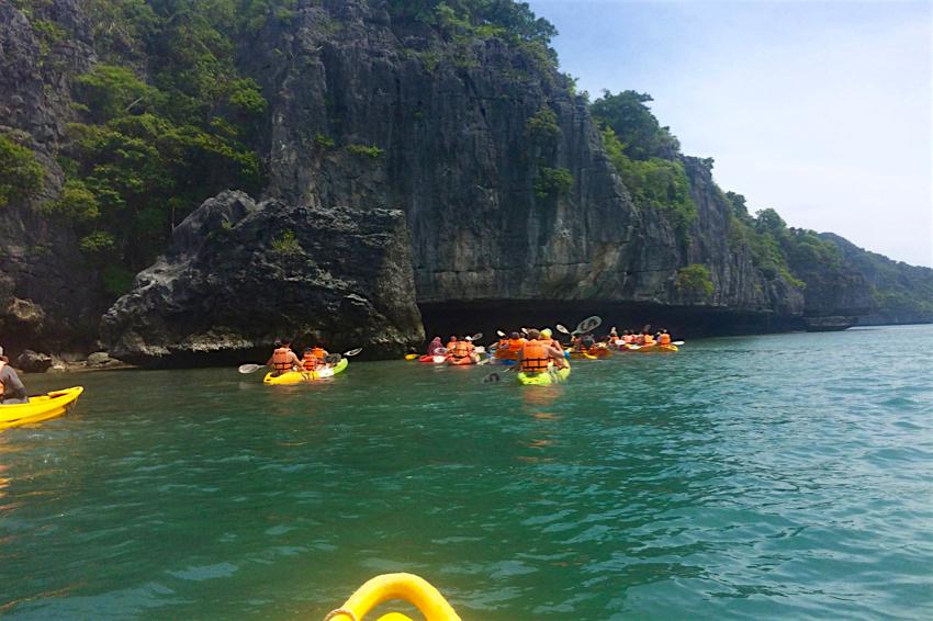 サムイ島旅行記 3日目 アントン海洋国立公園 カヤック
