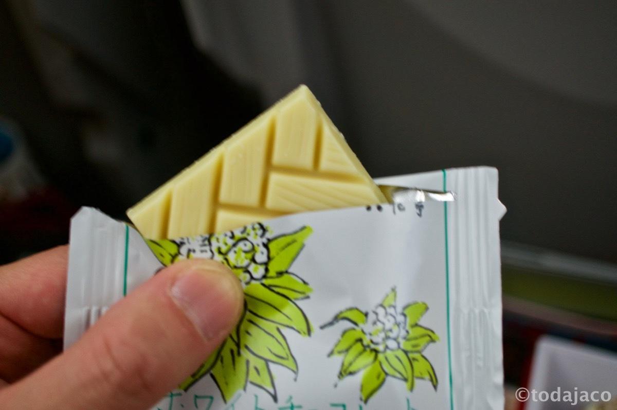 六花亭のホワイトチョコ