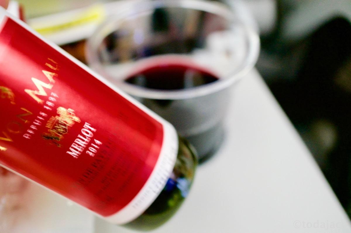 赤ワインはチリ産のメルロー