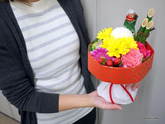 そのまま飾れるブーケ「門松」 日比谷花壇