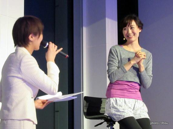ナイトケアアドバイザ―小林麻利子さんによるトーク ビューティナイトヨガ@アンダーズ東京