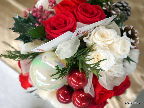 JANE PACKER プリザーブドアレンジメント「ハートのA」 日比谷花壇 2016クリスマス