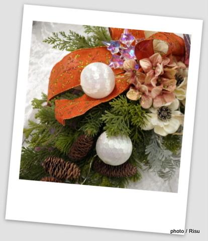 クリスマス アーティフィシャルスワッグ「リソナ」 日比谷花壇2016クリスマス