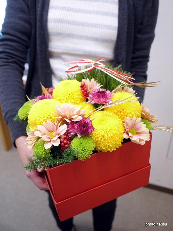 お正月アレンジメント「福善」