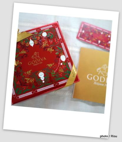 日比谷花壇2016クリスマス オプション GODIVAチョコレート