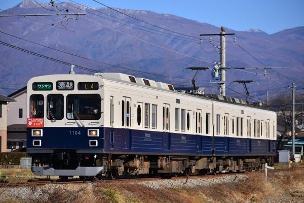 2017年1月1日 上田電鉄別所線 三好町~赤坂上 1000系1004編成
