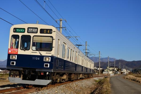 2017年1月1日 上田電鉄別所線 中野~舞田 1000系1004編成