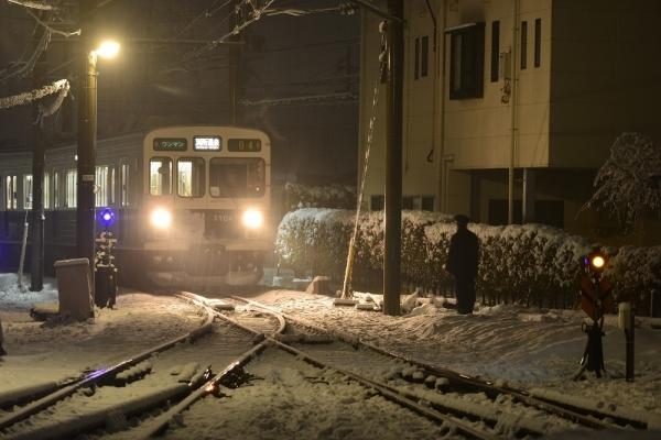 2017年1月8日 上田電鉄別所線 下之郷 1000系1004編成