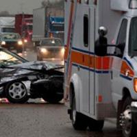 救急車と衝突