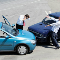 路上での事故