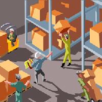 倉庫内の作業