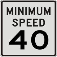 最低速度標識