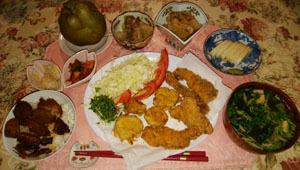 晩御飯 ヒレカツ・白銀・大根煮物