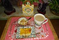 午後ティー 林檎のケーキ
