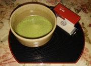 食後の抹茶