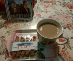 食後のお茶 ビスコッティ