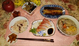 おでんと照り焼き魚 刺身 煮物
