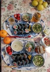 まぐろ巻寿司でお昼ご飯
