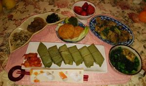 鶏ハラミみそ焼き 柿の葉寿司 コロッケ 酢物・煮物三点
