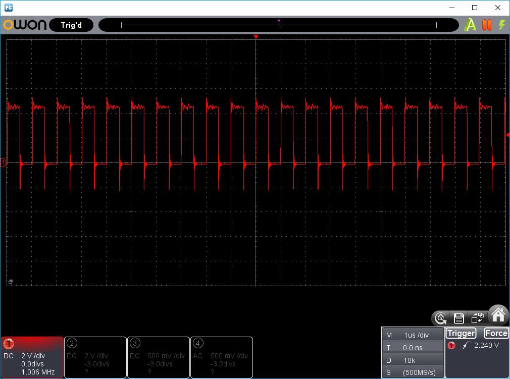 OSCキャリブレーションツール(12F629等)波形1
