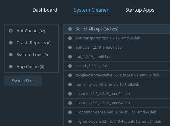 Stacer Ubuntu システム最適化 クリーナー