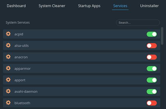 Stacer Ubuntu システム最適化 サービス