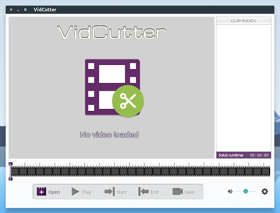 VidCutter Ubuntu 動画編集