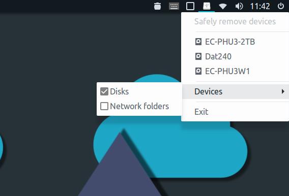 linux-indicator-usb Ubuntu USB 安全に取り外す デバイスリスト