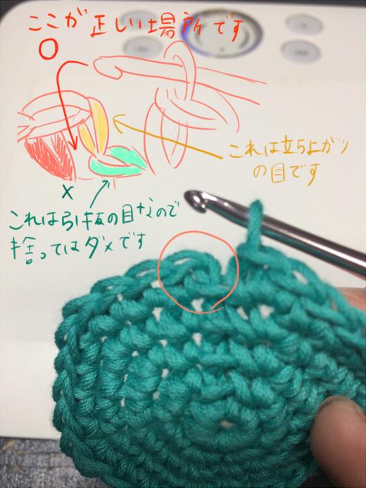 かぎ針で丸く編む基本 (4)