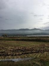 「線上」から見た弓月ケ岳