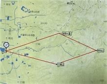 箸墓ー弓月ケ岳位置図