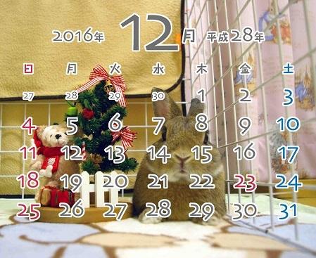 2016年12月卓上型カレンダー