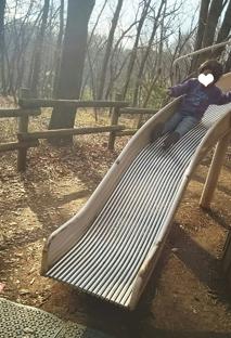 滑り台ー!